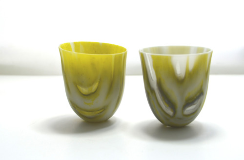 Gull duo working with Bullseye Glass powders