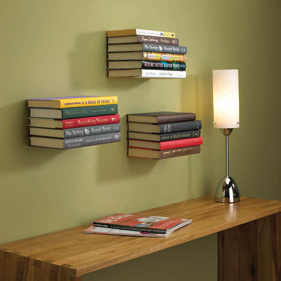 potworks:  Invisible Bookshelf
