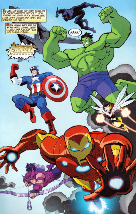"Opening page from ""The Avengers: Earth's Mightiest Heroes"" #1 - the new ongoing Marvel Comics title is now available! Written by Christopher Yost, artwork by Christopher Jones. http://www.toonzone.net/forums/showthread.php?293860-quot-The-Avengers-Earth-s-Mightiest-Heroes-quot-Issue-1-Talkback-%28Spoilers%29"