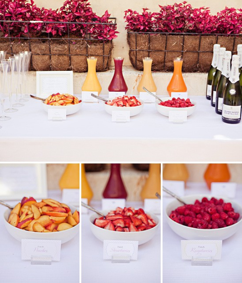 prepprephooray:  Mimosa bar, what a great brunch party idea  My sorority needs this. We're obsessed.
