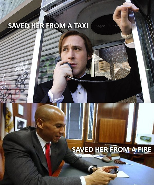 shannonpareil:  supercorybooker:  from ‏ @PatrickKwan  swoon.  Cory Booker is Superman in disguise.