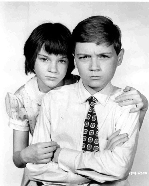 "inleewetrust:  Mary Badham as Jean Louise ""Scout"" Finch and Phillip Alford as Jem Finch"