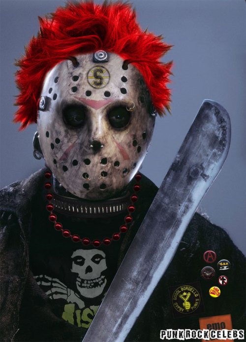 Chi Chi Chi Ha Ha Ha…Happy Friday the 13th! punkrockcelebs:  Punk Rock Jason Voorhees (Happy Friday the 13th)