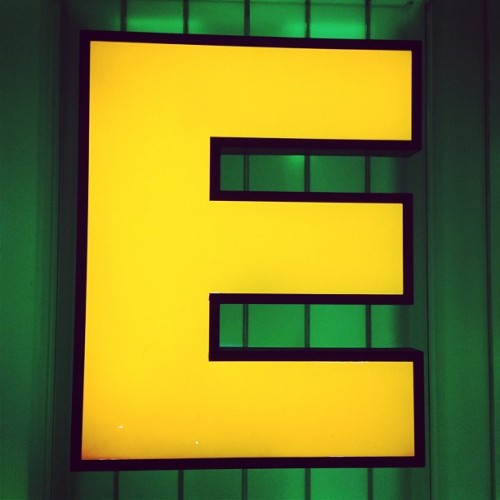 Letter of the day! #e #glyphosaurus #typography #bostongarden #celtics (Taken with instagram)