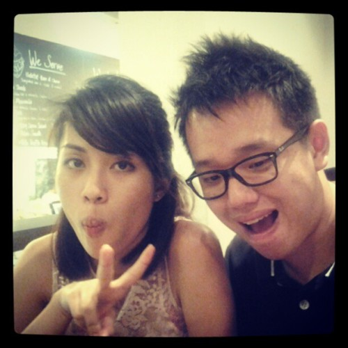 Shiqin and SK (Taken with Instagram at Habitat Coffee)