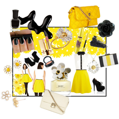 Yellow - Inspired By Marc Jacobs (Daisy) by mszee featuring enamel earringsOasis tee shirt dress$95 - oasis-stores.comOasis tee shirt dress$95 - oasis-stores.comOasis tee shirt dress$95 - oasis-stores.comLace heelsgojane.comBlack heel boots$142 - filthymagic.comMarc Jacobs shoulder handbag$575 - net-a-porter.comQuilted shoulder bag$360 - reissonline.comRachel Rachel Roy canvas handbag$59 - macys.comMarc by Marc Jacobs daisy earrings$42 - nordstrom.comGoth ring£3.95 - chaoticclothing.co.ukAlex Monroe daisy ring¥18,900 - mirabella.jpAlex Monroe daisy necklacealexmonroe.comAZ Collection enamel earrings$108 - forzieri.comYves saint laurent lipstick$32 - yslbeautyus.comHourglass Cosmetics mascara£21 - liberty.co.ukBlushbonanza.comMarc Jacobs daisy perfume$62 - saksfifthavenue.comModels own nail polish£5 - republic.co.ukDeborah lippmann nail polish$16 - zappos.comSweet Daisy$3 - bellafigura.com