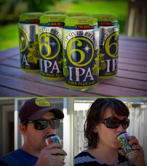 The can we designed for West Sixth Brewery is now available! With beer in them! The IPA is delicious and that's not us being biased…we're picky, hop-heads around here. So good! We're pretty proud of this job and our relationship with this groundbreaking, local business. And here's us with our first taste of canned goodness.