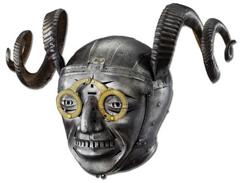 Konrad Seusenhofer, The Horned Helmet of King Henry VIII, 1511-1514, steel.  Royal Armouries, Leeds