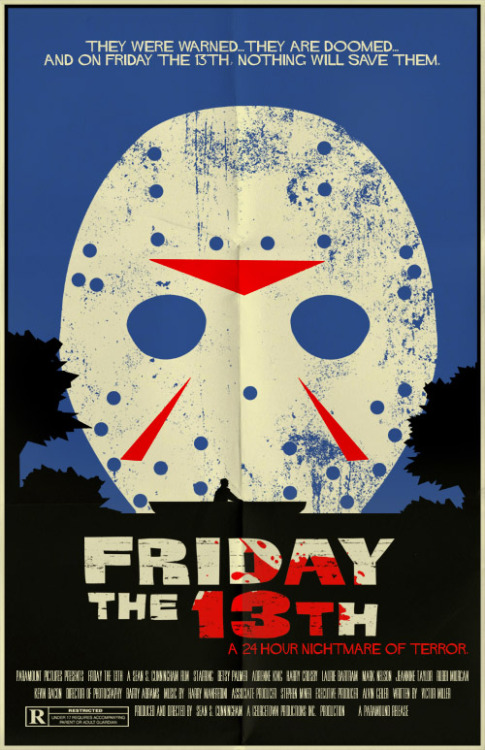 minimalmovieposters:  Friday the 13th by Mark Welser