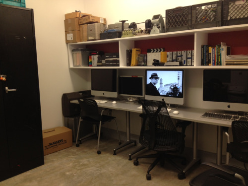 Welcome, welcome folks to our new tumblr blog + office!  We're hoping to keep you more up to date with our latest events, projects, and screenings through this site. And make sure to stop on by our new space in the basement of the Logan Arts Center!