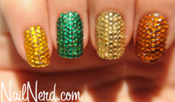 nailnerd-com:  Full-cover rhinestone nails with a quick tutorial