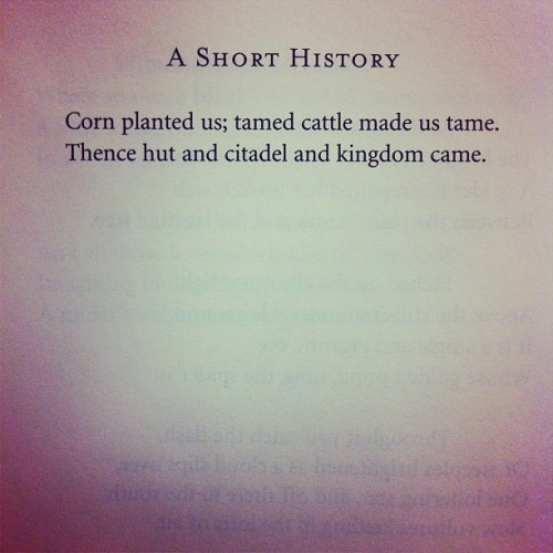 "hmhpoetry:  ""A Short History"" by Richard Wilbur, from COLLECTED POEMS 1943-2004."