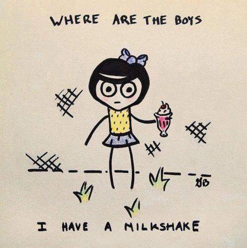 Make milkshakes they said. It brings all the boys to the yard they said. They lied!