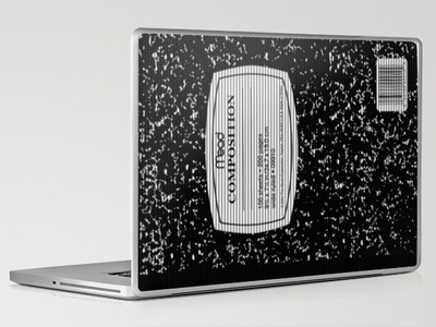 "fuckyeahromivega:  (via Composition Notebook Laptop & iPad Skin by Romi Vega | Society6) I thought I'd share my current favorite item I have up for sale on my Society6 store and bring to light my shock and dissapointment at what little love this one is recieving. I'm a total failure. We all ued these/still use them, right? Modern up people. $30 for the Composition Notebook Laptop/iPad Skin. 13"", 15"" 17"" available"