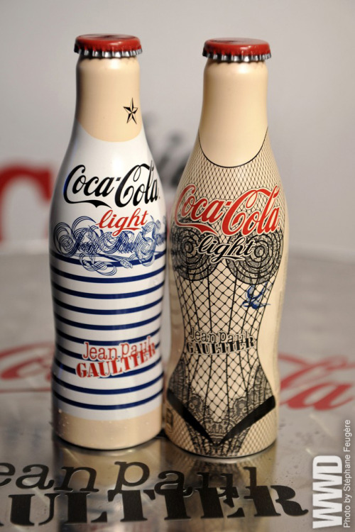 womensweardaily:  Jean Paul Gaultier Goes Pop The Diet Coke bottles designed by Jean Paul Gaultier.