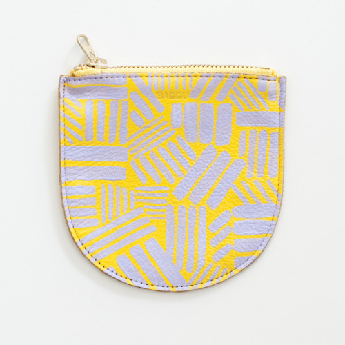 Hand painted BAGGU leather pouch, for Sight Unseen Shape Shop at Creatures of Comfort