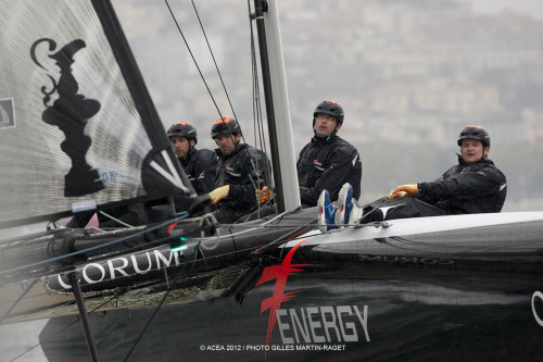 americascup:  Energy Team FR win first Fleet Race today in Naples