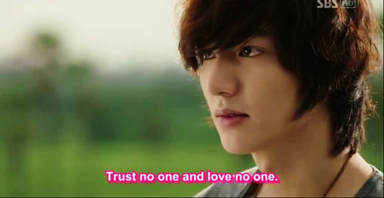 """Trust no one and love no one."" - Lee Jin Pyo (Steve Lee) to Lee Yoon Sung (Johnny Lee / Poo Chai), City Hunter"