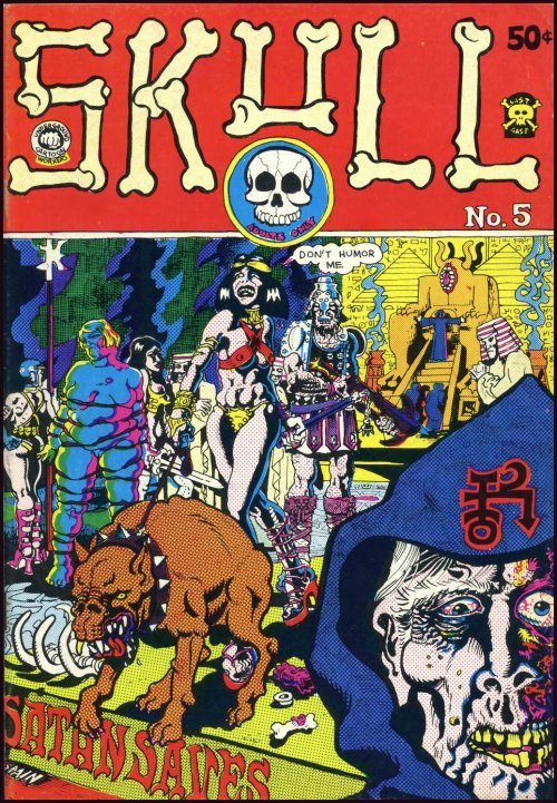 snakebomb:  Skull Comics #5 cover by Spain (Last Gasp 1972). Read issues #1-6 here.