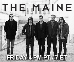 The Maine is going live later today at 4PM PT / 7PM ET to talk about the kick off of their Pioneer Tour!  Don't miss out!