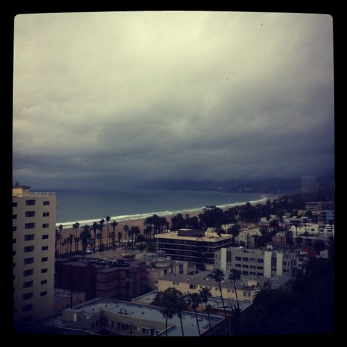 Stormy morning. Still beautiful. #cali #california #santamonica  (Taken with Instagram at The Penthouse)