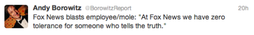 Today in funny reactions to the Fox Mole takedown: Andy Borowitz
