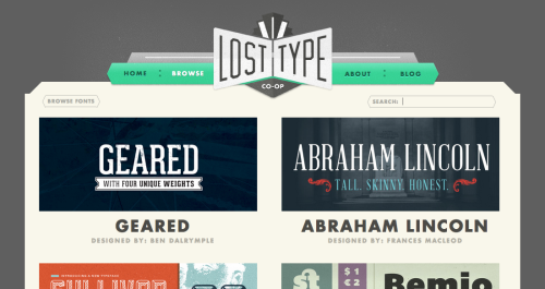 A good resource for fonts is Lost Type where users can choose how much they want to pay for a font. Founded by Riley Cran and Tyler Galpin (both of who are worth checking out).