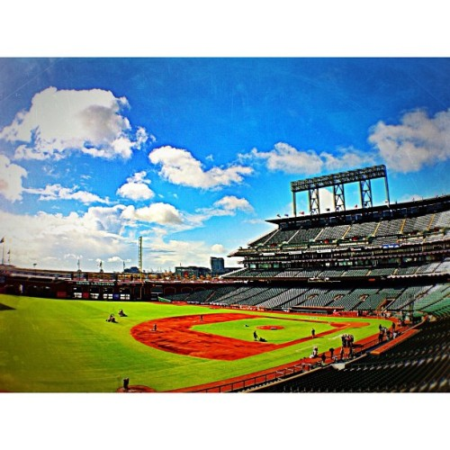 Let's do this! #openingday #sfgiants #insidesfg #instagram #sfgproductions #baseball #iphoneography  (Taken with instagram)