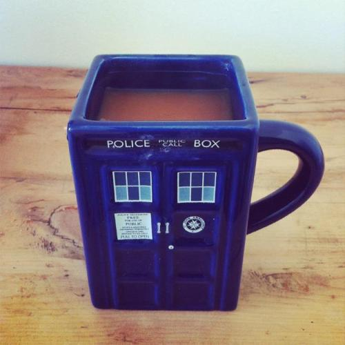 You made coffee in the TARDIS! That's good! But you drowned the Doctor and his companions. That's bad.