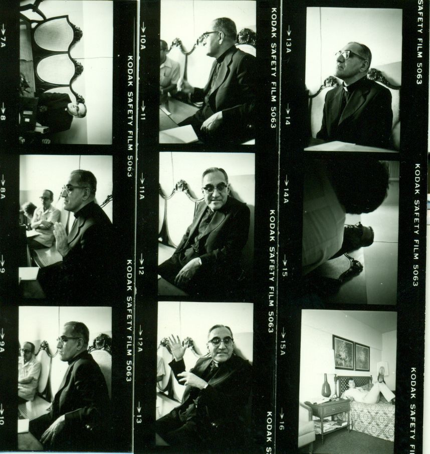 Never before published photographs of Archbishop Oscar Arnulfo Romero a few weeks before he was murdered in El Salvador in 1980: I took these at a small press conference in the capital before talking with him one on one. It was clear to most of us there at the time that Romero would be killed. It was clear to him. For more about Romero — as close to a saint as any person I ever met — read my column from March 2010:         It is 30 years ago this week that a sniper killed Salvadoran Archbishop Oscar Arnulfo Romero with a single bullet that exploded through his heart as he said mass. … http://www.thedailybeast.com/newsweek/2010/03/23/when-death-came-for-the-archbishop.html