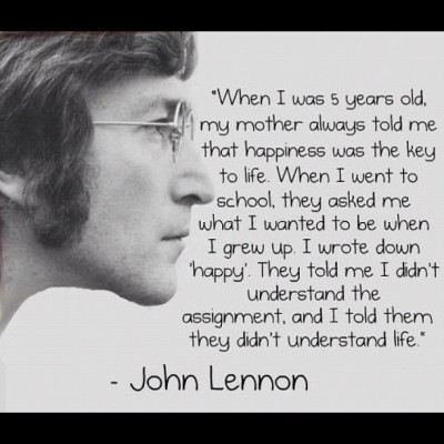 John Lennon. Magical words. (via @JoeRogan) (Taken with instagram)