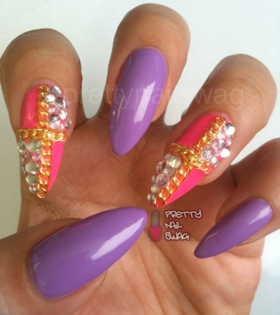 "prettynailswag:  ""IT COULD BE PURPLE, IT COULD BE PINK……."" Whoever can finish this rap lyric first will win 1 pink and 1 purple nail polish from me!! Hurry and answer below, who can finish the lyric first?  Where are my nail-polish-loving-hip-hop heads at???  Ughh..I need to get me some chains!"