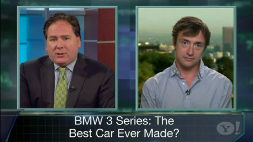 Richard talks to Yahoo about the BMW 3-Series Ok, so you have to ignore the fact that they show images of the previous 3-series when talking about the NEW 3-series, and instead listen to Richard make the argument that the new BMW 3 Series is the best car ever made. (Click through for the video.)
