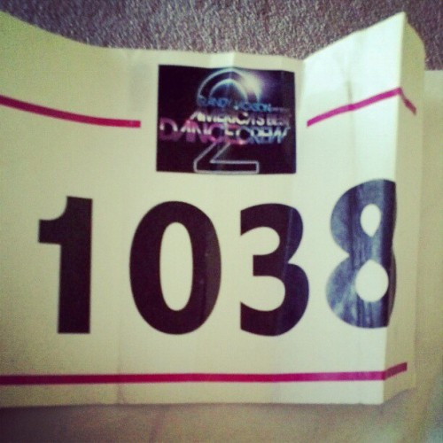 Speaking of memorabilia, I found our numbers from the initial ABDC audition in NY. Crazy. #memories #abdc #boogiebots   (Taken with instagram)