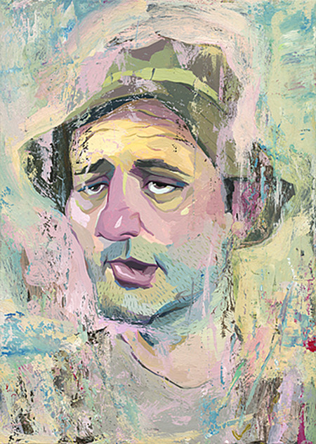 Portrait of Bill Murray by Rich Pellegrino