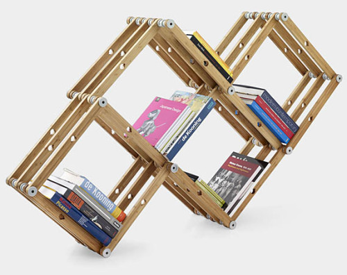 Modular shelving system that expands with your book collection.
