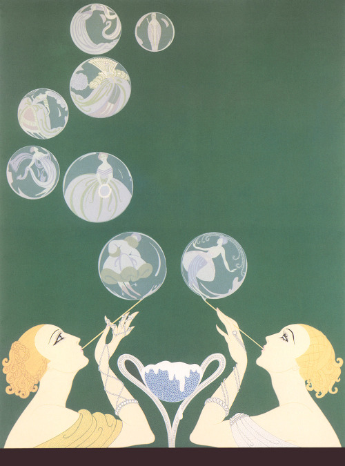 vintagemarlene:   the bubbles by erte