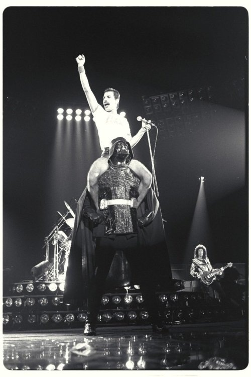 Unexplainable Photo Of Freddie Mercury Riding Darth Vader (via @buzzfeed)