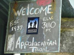 The legendary Mountain Crossings at Neel's Gap on the Appalachian Trail.