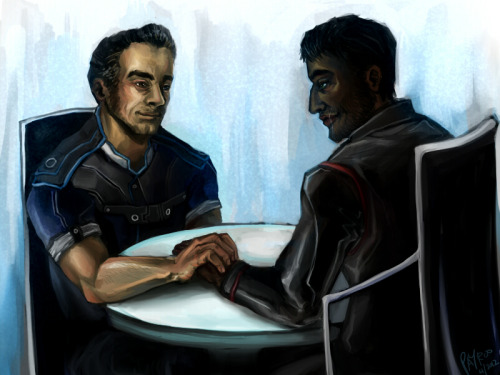 Biotic boyfriends ;3; many many thanks to everyone who helped me with the WiP <333  This scene on the citadel was so sweet, if somewhat anticlimactic. Where was my awkwardly choreographed clipping kissing scene?! Nothing will ever come close to the Anders kiss in DA2 Act 2 /sighs