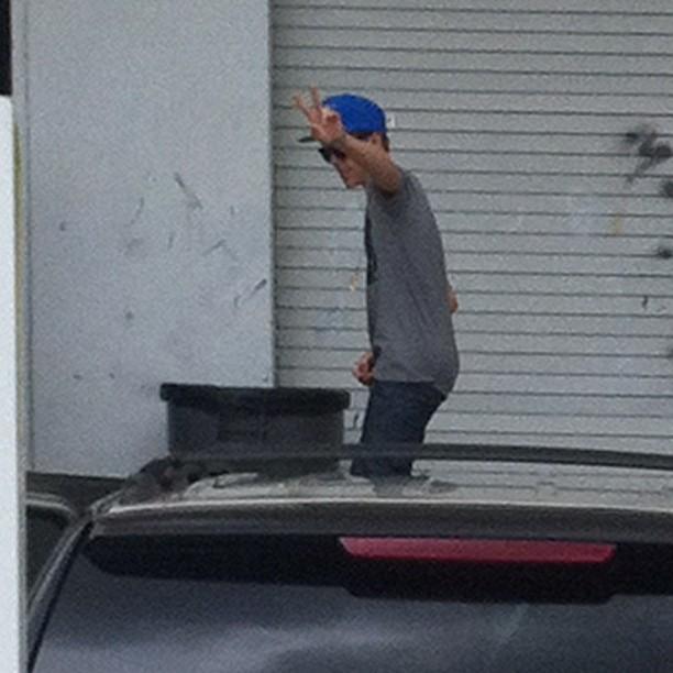 Justin Bieber fan picture in Florida
