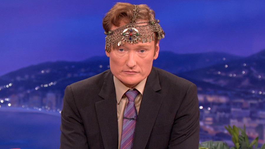 """I feel like a chandelier fell on my head."" - Conan [more photos]"