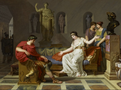mesbeauxarts:  Louis Gauffier. Cleopatra And Octavian. 1787. Oil on canvas. Scottish National Gallery. Edinburgh, Scotland. Neoclassicismo