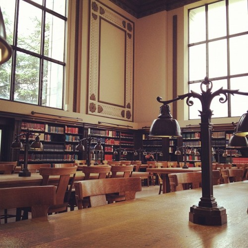 collegebred:  Library at UC Berkeley.   North, my sweet sweet North. <3