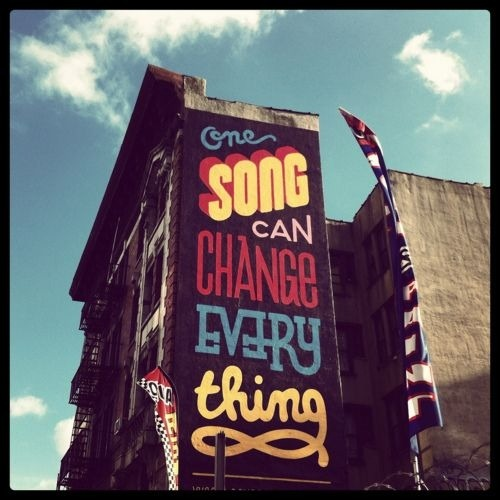 One song can change every thing… #music