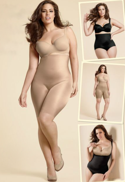 Ashley Graham  in Spanx 36 inch bust, 34 inch waist, 47 inch hips via Cacique Intimates