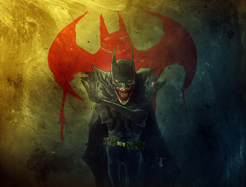 dcplanet:  Joker in the Bat-Suit Art by Ben Templesmith Batman Digital Comics, cover for one of the upcoming.