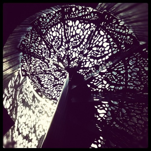 dustdb:  Tucson Mountain House Spiral Stair (Taken with instagram)