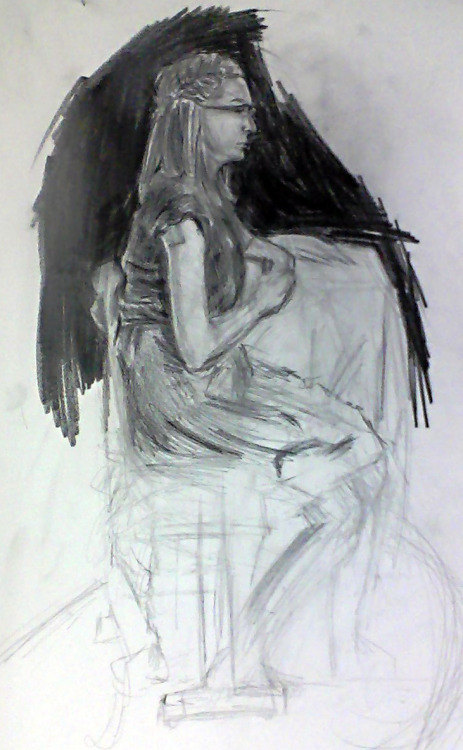 Unfinished figure from class.