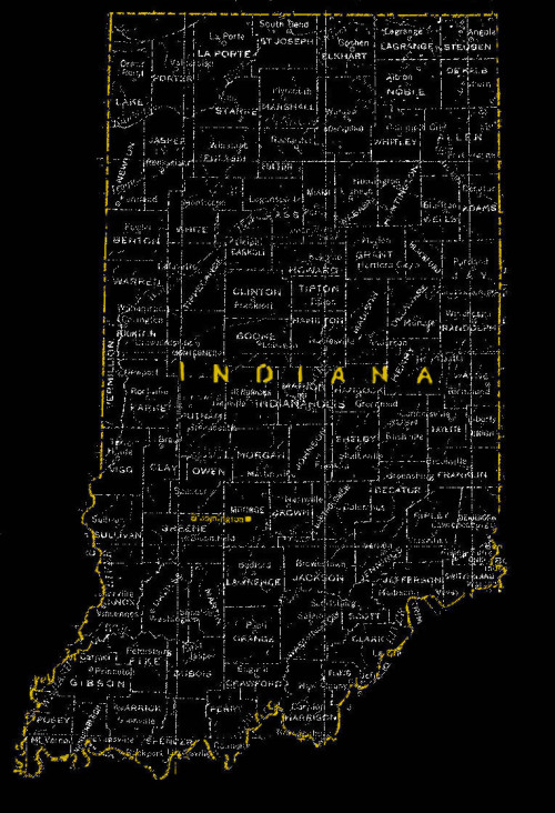 Where I be: Bloomington, Indiana Made this for a small-town-indiana-adventure-society that has not yet manifested.